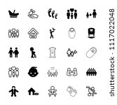 family icon. collection of 25... | Shutterstock .eps vector #1117022048