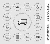 deliver icon. collection of 13... | Shutterstock .eps vector #1117025162