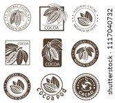 collection of labels with cocoa ... | Shutterstock .eps vector #1117040732