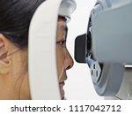 woman having comprehensive eye... | Shutterstock . vector #1117042712
