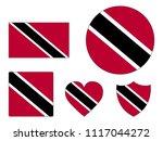 trinidad and tobago flags set | Shutterstock .eps vector #1117044272
