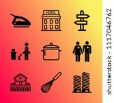 vector icon set about home with ... | Shutterstock .eps vector #1117046762