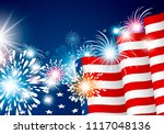 usa 4th july independence day... | Shutterstock .eps vector #1117048136