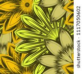 seamless floral background.... | Shutterstock .eps vector #1117050602