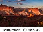 glorious sunset on the rock... | Shutterstock . vector #1117056638