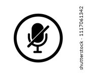 microphone muted vector icon ...