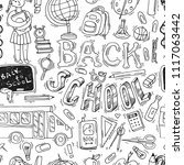 beautiful hand drawn set of... | Shutterstock .eps vector #1117063442