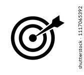 target vector icon  aim symbol. ...