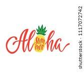 aloha summer. inspirational...   Shutterstock .eps vector #1117072742
