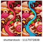 little cakes shop  two... | Shutterstock .eps vector #1117072838