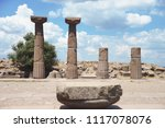 temple of athena. ruins of the... | Shutterstock . vector #1117078076