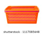 color plastic basket  isolated... | Shutterstock . vector #1117085648