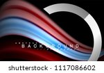 rainbow fluid colors wave and... | Shutterstock .eps vector #1117086602