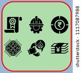 simple 6 icon set of business... | Shutterstock .eps vector #1117087988