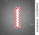 letter i 3d realistic raster... | Shutterstock . vector #1117094615