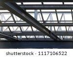 steel girders and stiffening...   Shutterstock . vector #1117106522