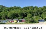 summer cottages   shacks of...   Shutterstock . vector #1117106525