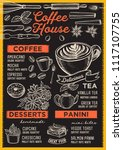 coffee restaurant menu. vector... | Shutterstock .eps vector #1117107755