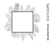 vector frame with  hand drawn... | Shutterstock .eps vector #1117111292