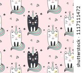 seamless pattern with cute... | Shutterstock .eps vector #1117111472