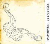 retro baroque decorations... | Shutterstock .eps vector #1117114166