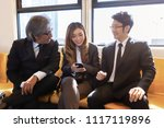 business company meeting on... | Shutterstock . vector #1117119896