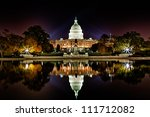 us capitol building and... | Shutterstock . vector #111712082