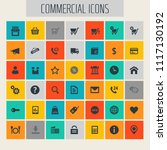 big commercial icon set | Shutterstock .eps vector #1117130192