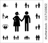 husband and pregnant wife... | Shutterstock .eps vector #1117133822