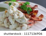 steamed crab meat prepared for... | Shutterstock . vector #1117136906