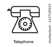 telephone icon vector isolated... | Shutterstock .eps vector #1117139315