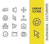 web icons set with star  folder ...