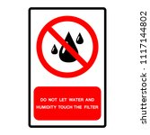 do not let water and humidity... | Shutterstock .eps vector #1117144802