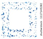 confetti of two colored rhombs... | Shutterstock .eps vector #1117145282