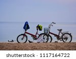 bicycle chalatat beach songkhla ... | Shutterstock . vector #1117164722