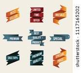 set of promo ribbon labels and... | Shutterstock .eps vector #1117165202