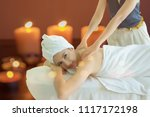 spa treatment for good health... | Shutterstock . vector #1117172198
