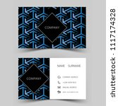 modern business card template... | Shutterstock .eps vector #1117174328