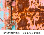grunge texture of old rusty... | Shutterstock . vector #1117181486