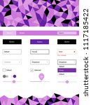 light purple vector ui kit in...