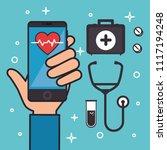 medicine online healthcare icons | Shutterstock .eps vector #1117194248