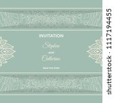 save the date invitation card... | Shutterstock .eps vector #1117194455