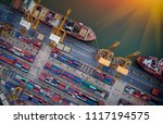logistics and transportation of ... | Shutterstock . vector #1117194575