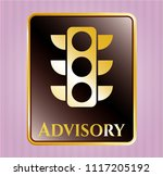 shiny emblem with traffic... | Shutterstock .eps vector #1117205192