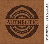 authentic retro wood emblem   Shutterstock .eps vector #1117208156