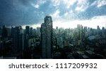 rainy season  rain drops on... | Shutterstock . vector #1117209932