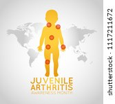 juvenile arthritis awareness... | Shutterstock .eps vector #1117211672
