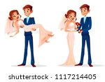 Couple Wedding Vector...