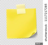 note papers with tape on... | Shutterstock .eps vector #1117217285