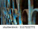 Old Rusted Iron Blue Gate